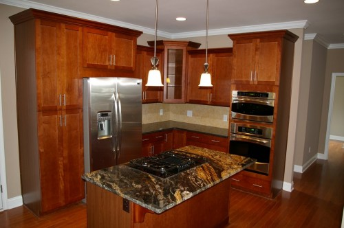 Custom kitchen built as a part of the Craftsman Style new home build