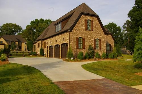 Custom built home with Door Report garage door opener
