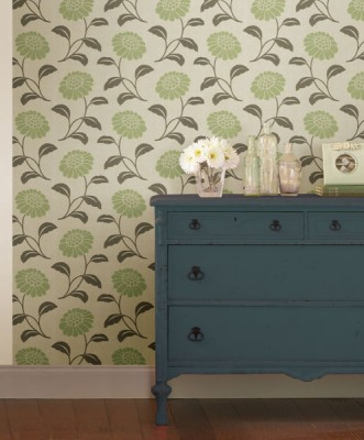 This subtle flower wallpaper transformed this dreary room