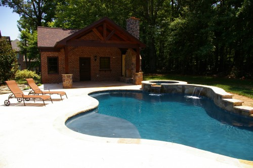 Well planned pool house and pool allowed homeowner to avoid common project pitfalls