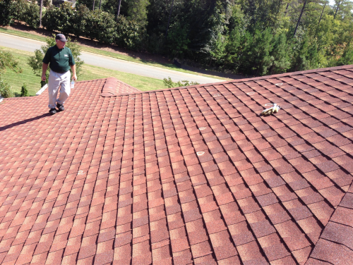 Hail damage discovered by independent roofing specialist in Charlotte, NC