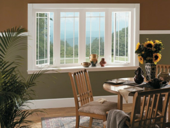 New bay windows installed by Charlotte, NC home renovation contractor