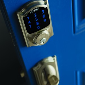 SchlageSense biometric front door lock for home security