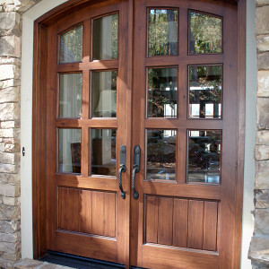 Save on energy and utility costs with this SunMountain Alder Panel Entry Door