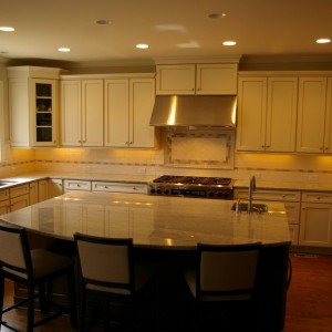 After picture of a small kitchen renovation done by Charlotte renovation company