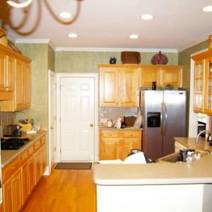 Before picture of a small kitchen renovation done by Charlotte renovation company