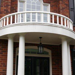 After picture of portico renovation