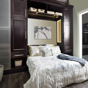 Custom cabinets in master bedroom of Charlotte, NC residence
