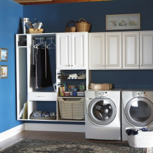 Custom cabinets built in laundry room for Charlotte homeowners