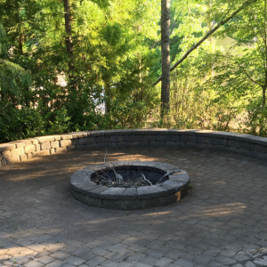 Custom built fireplace pit in Charlotte, NC