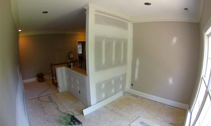 Home remodeling charlotte nc palmer custom builders for 2 story foyer conversion