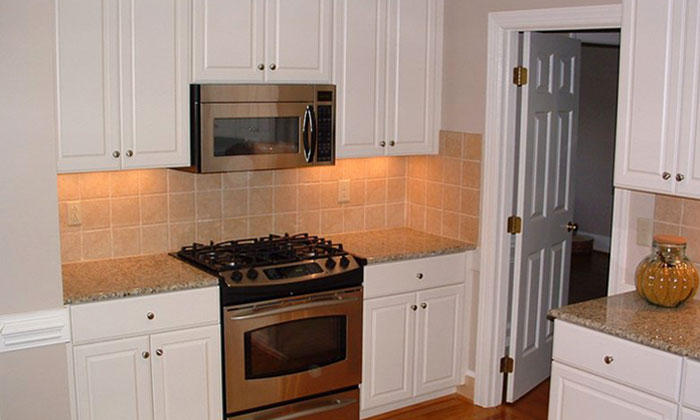 This is an after picture of a kitchen remodel done by Palmer Custom Builders