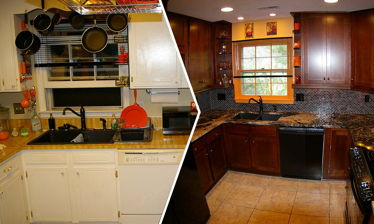 Bachelor kitchen remodel before and after
