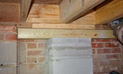 After basement band sill repair