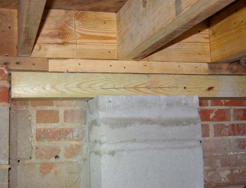 Basement band sill repairs