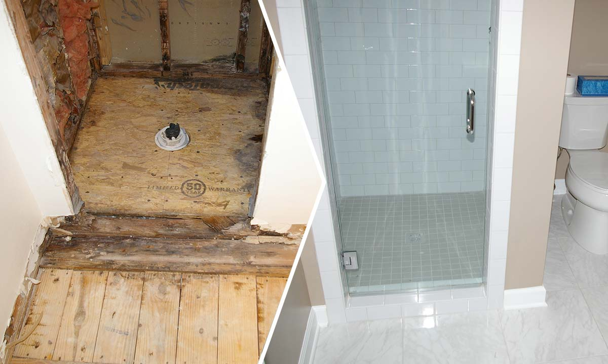 Bathroom upgrade and renovations before and after