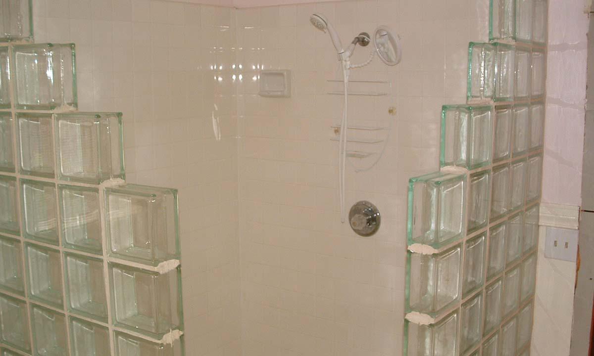 Original retro bathroom shower
