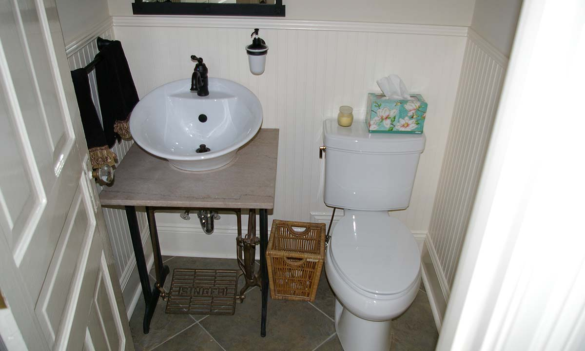 New functional powder room addition and sink