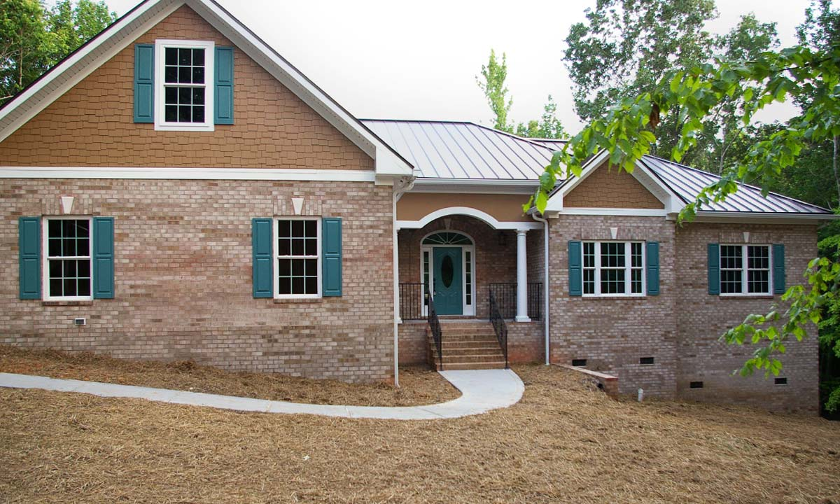 Brick ranch home waxhaw custom homes palmer custom for Custom design house