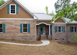 Custom built brick ranch home in Waxhaw, NC