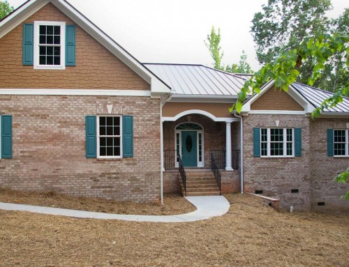 Universally designed brick ranch custom home