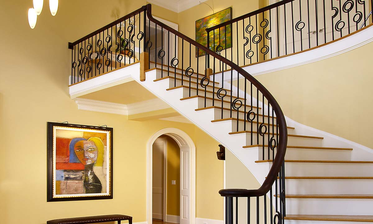 Mother in law suite staircase custom built in Charlotte, NC