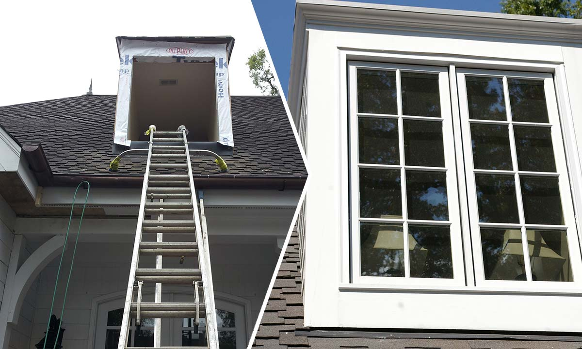 Dormer window repair – before and after