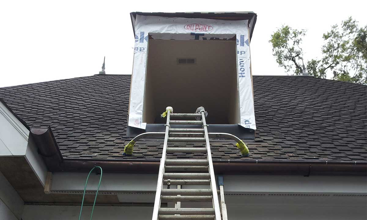 During dormer window repair