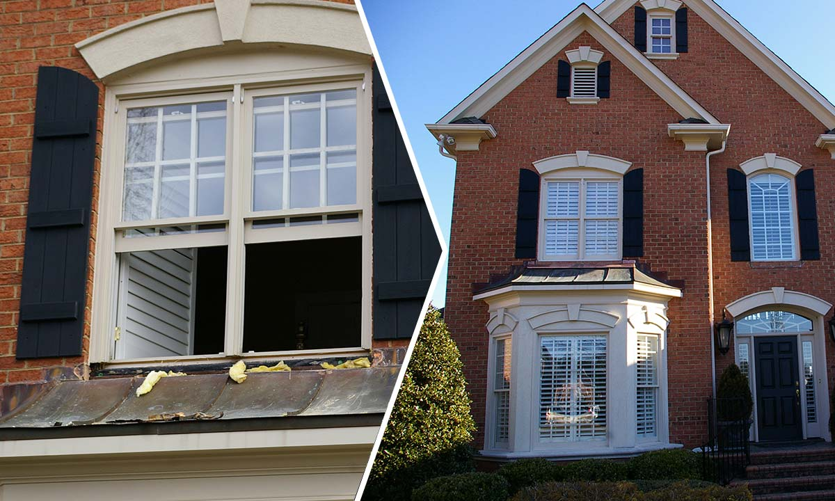 Window repair – before and after
