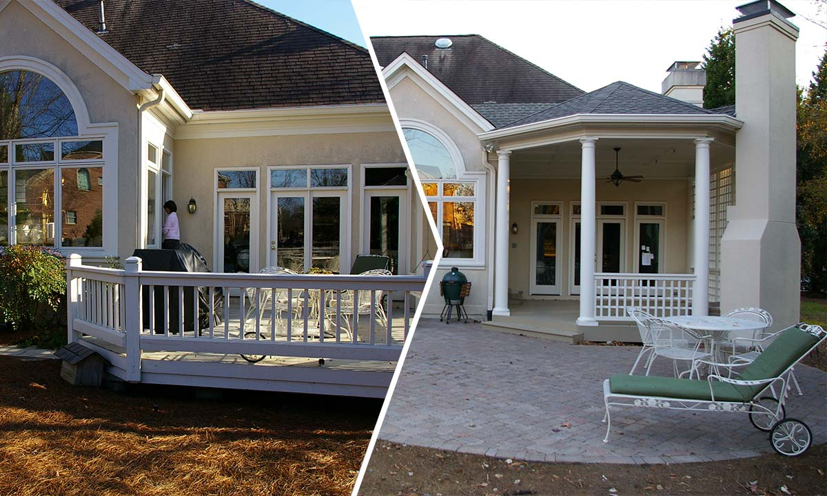 covered porch and pergola home addition ideas