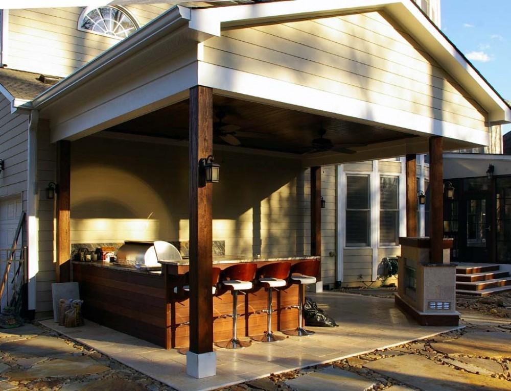 Bar On Porch : Wrap around front porch addition home ideas