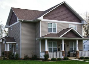 Exterior photo of a craftsman-style custom home built near Charlotte, NC