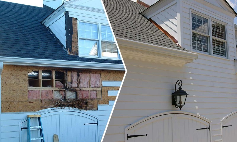Dormer repairs before and after