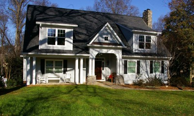 Front facing exterior photo after completing this dramatic home addition in Charlotte, NC