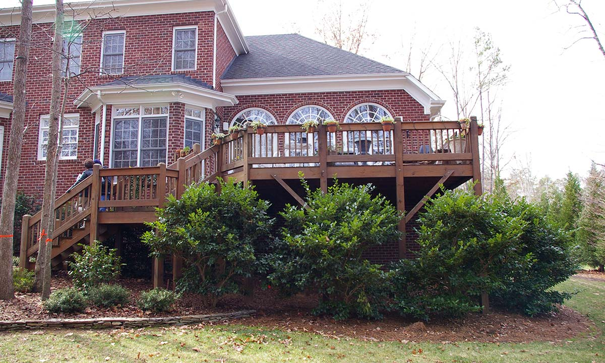 A picture showing the exterior of the home before the addition