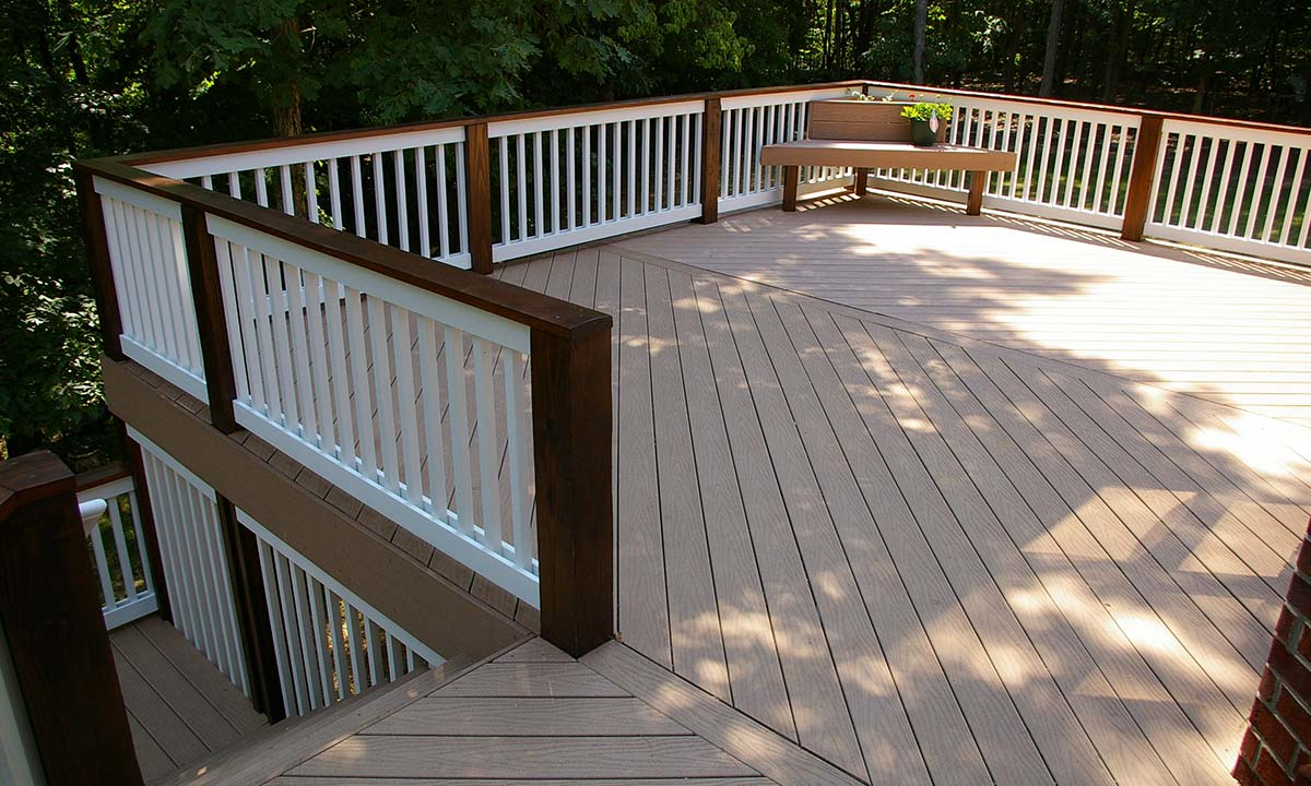 Picture of the new spacious deck after the home addition