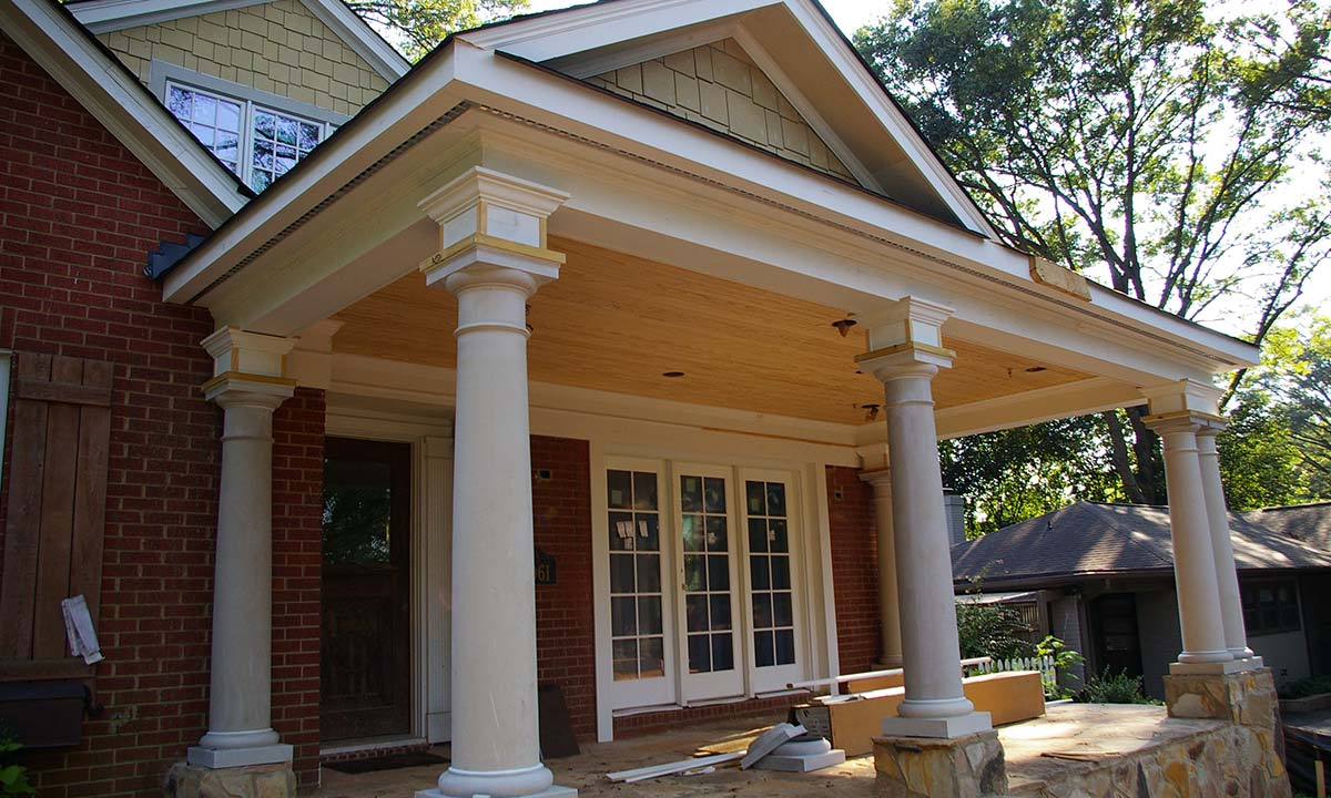 Charlotte front porch addition add curb appeal for Front porch construction