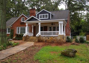 Front porch addition in Myers Park neighborhood of Charlotte, NC
