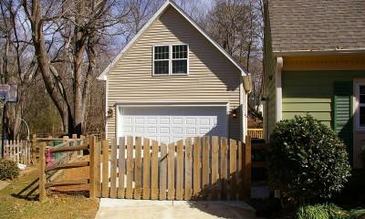 New detached garage with bonus room built in Charlotte