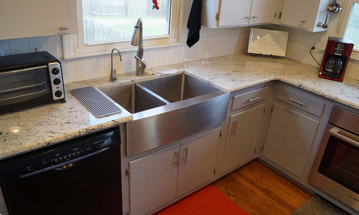 After kitchen renovation with view of sink