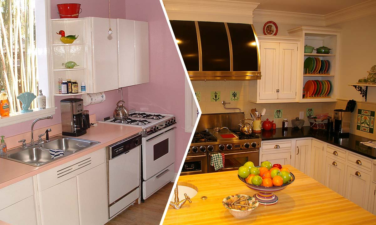 Kitchen remodeling before and after pictures for Kitchen remodel before after