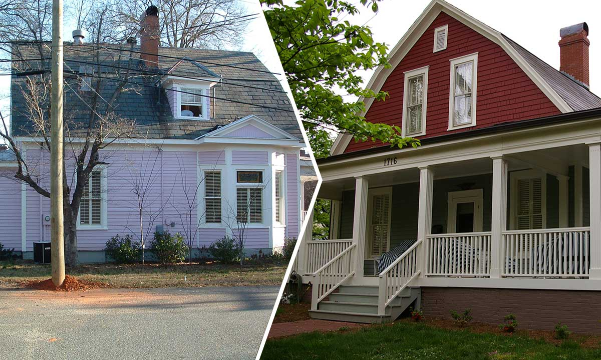 Historic home addition in Dilworth neighborhood of Charlotte, NC