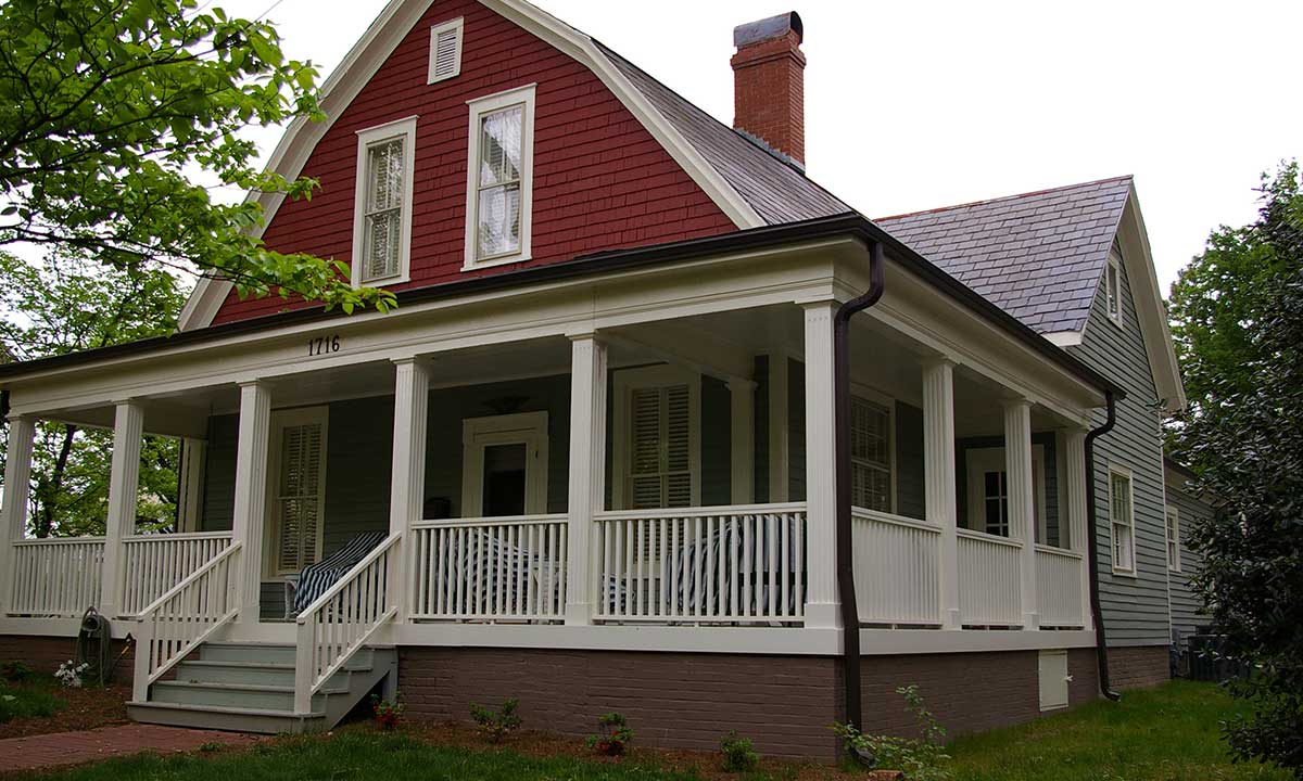 Historic home addition in Dilworth, NC – photo taken after construction