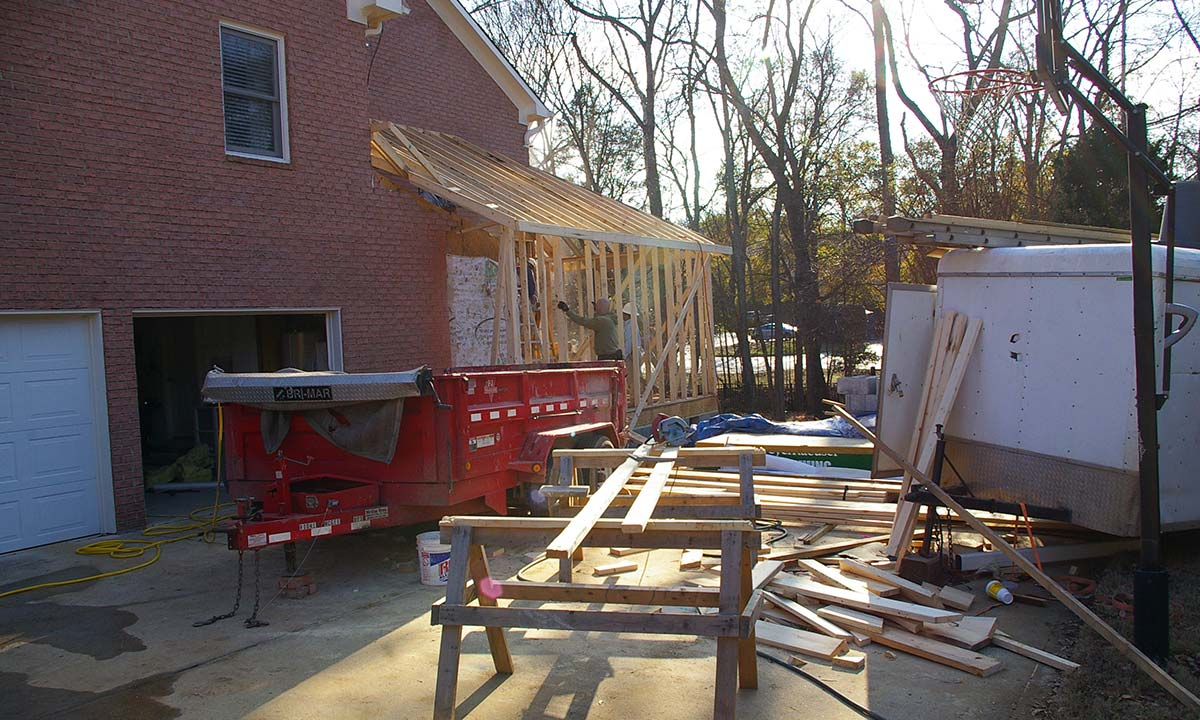 Enlarging the home for this kitchen remodel – photo of addition construction