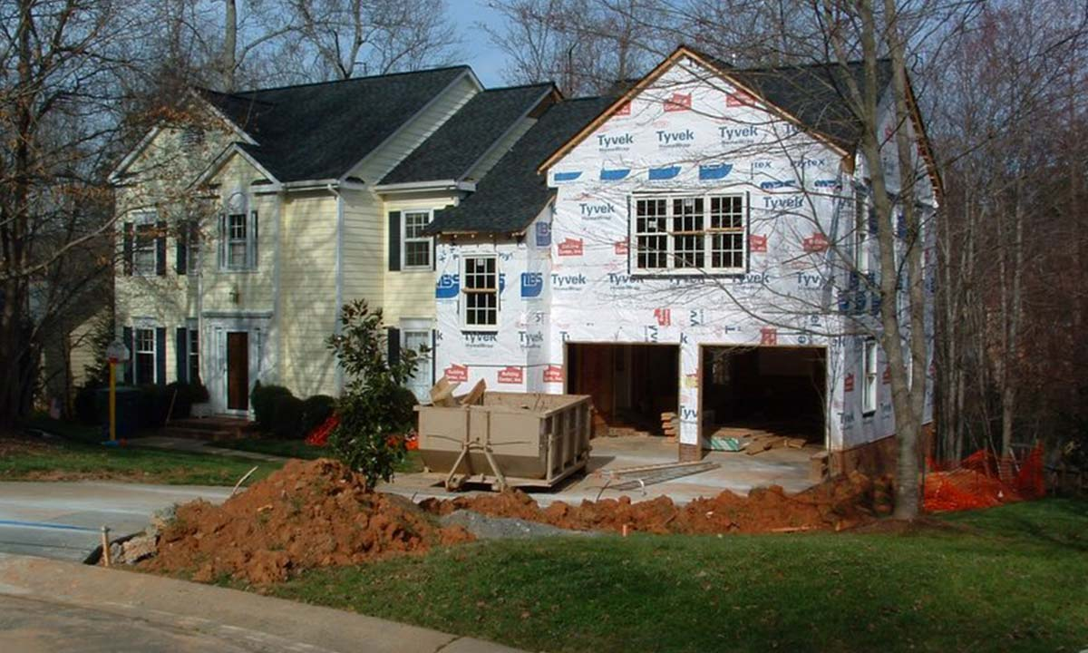 Home addition project in construction