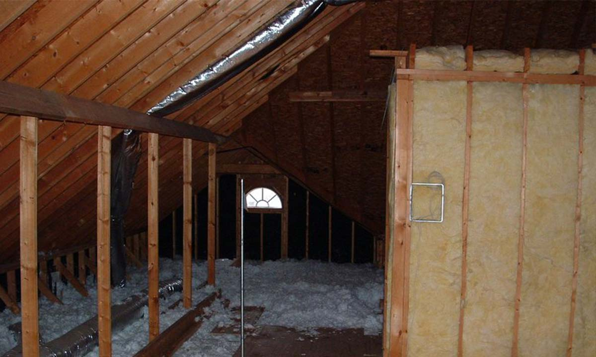 Photo of the unusable attic space that was converted
