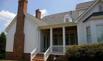 After home renovation and addition in an exterior photo