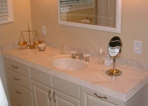 Major bathroom upgrades, including cabinets, countertops, tile, floors and walls