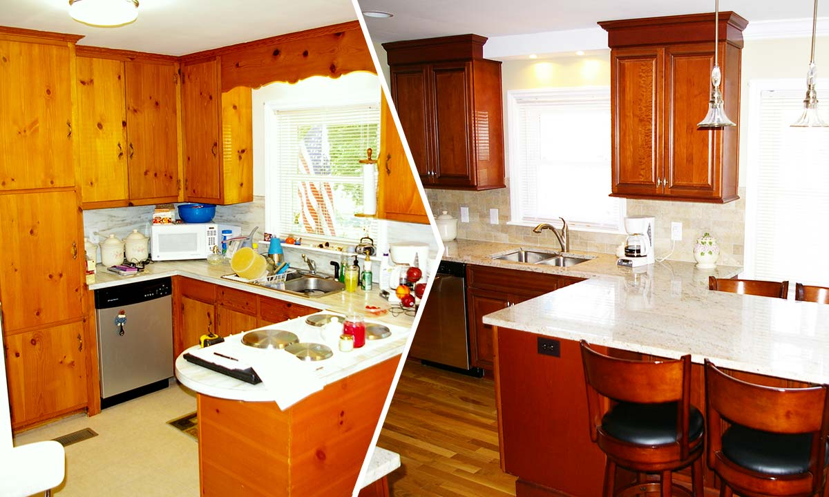 Home remodeling – Before and after kitchen remodel part of this project