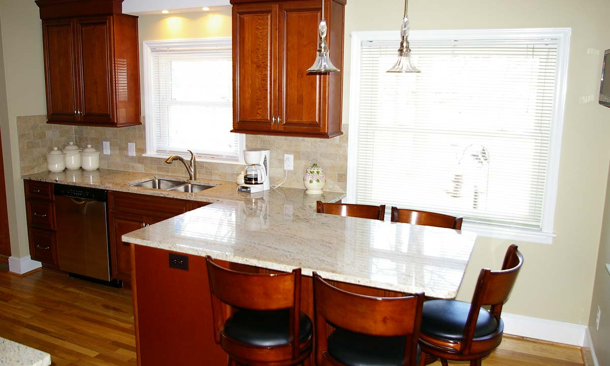 Kitchen has a more open feel after the space was remodeled